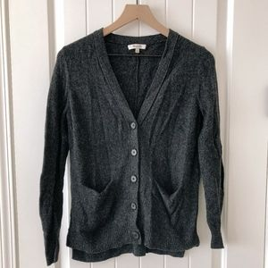 MADEWELL s button-up cardigan | charcoal